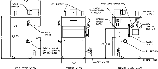 diagram of condensing steam engine