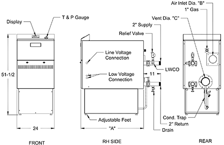 Crown Boiler Bimini Commercial Drawing