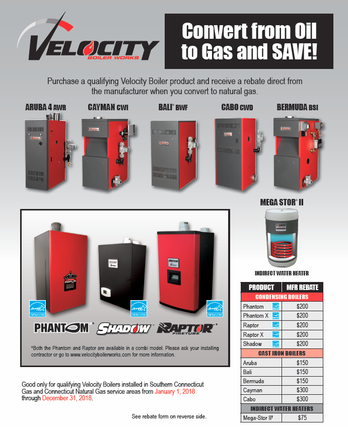 Rebates and Promotions | Velocity Boiler Works