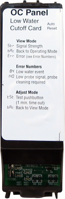 Low Water Cutoff Card