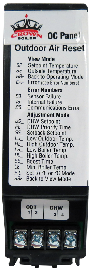 Outdoor Reset Card